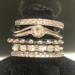 Set of Six Gorgeous Polished Stackable Rings,NWT